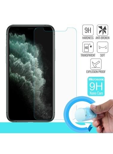 Microsonic iPhone 11 Pro Max Ekran Koruyucu Nano Cam (3'lü Paket) Renksiz